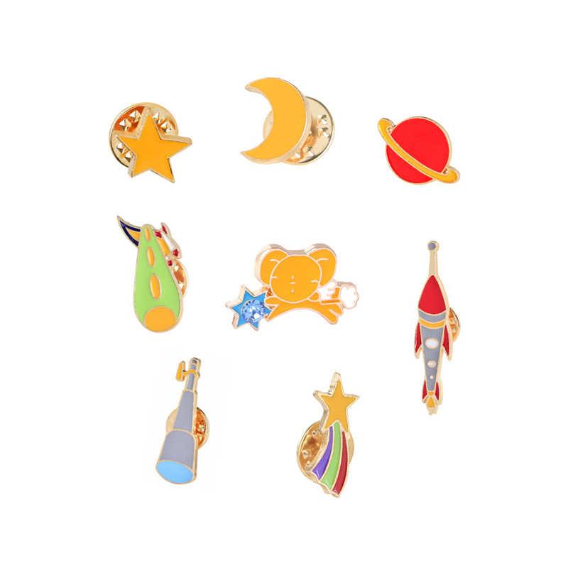 5-8 pz/set Dello Smalto Spille Pianta di Cactus Occhiali Gatti Arcobaleno Razzo Freccia Musicale Note di Frutta di Banana Spilla Risvolto Spilli distintivo Spille