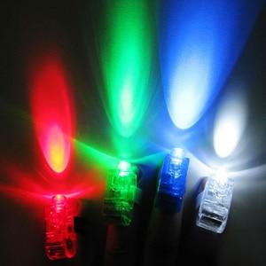 Image 5 - 100 Pcs / Lot LED Finger Lights Glowing Dazzle Colour Laser Emitting Lamps Christmas Wedding Celebration Festival Party decor