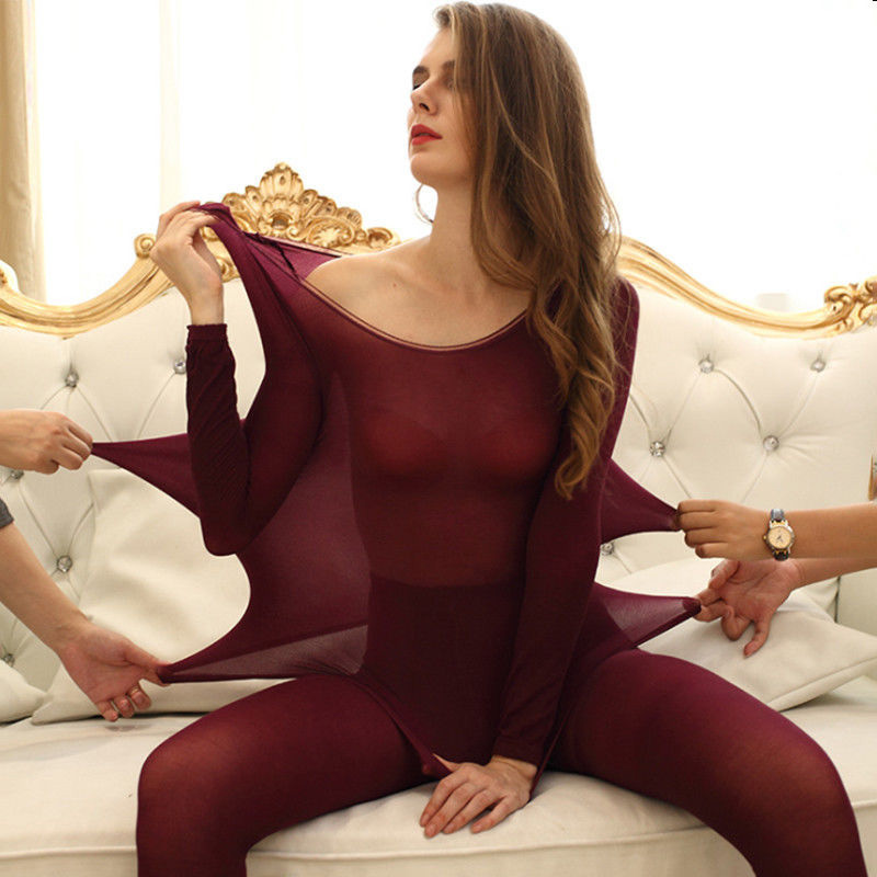 Newly Women Winter Seamless Thermal Inner Wear Set Warm Tops+Pants 2Pcs Suit FDM