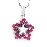 2017 Collier Collares Qi Xuan_Red Stone Star Pendant Necklaces_Real Necklaces_Quality Guaranteed_Manufacturer Directly Sale