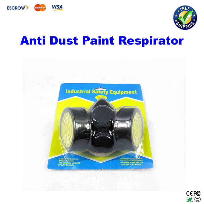 Anti Dust Paint  Double Gas Mask protection filter Chemical Gas Respirator Face Mask 1pcs double gas mask chemical gas respirator face masks filter chemical gas protected face mask with goggles