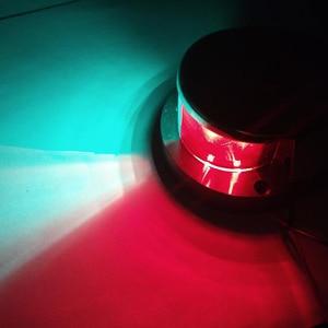 Image 2 - 1 Piece Marine Boat Yacht Bi Color Signal Lamp 12V LED Bow Navigation Light