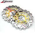 Motorcycle Front Rear Brake Disc Rotor For Honda CBR600 CBR 600 F4I SPORT 2001-2007 02 03 04 05 06 Gold