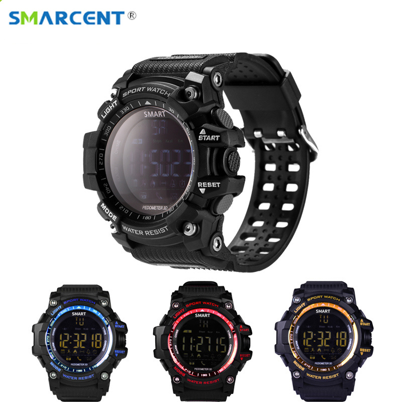 SMARCENT EX16 Bluetooth font b Smart b font Watch Xwatch 5ATM IP67 Waterproof Smartwatch Pedometer Stopwatch