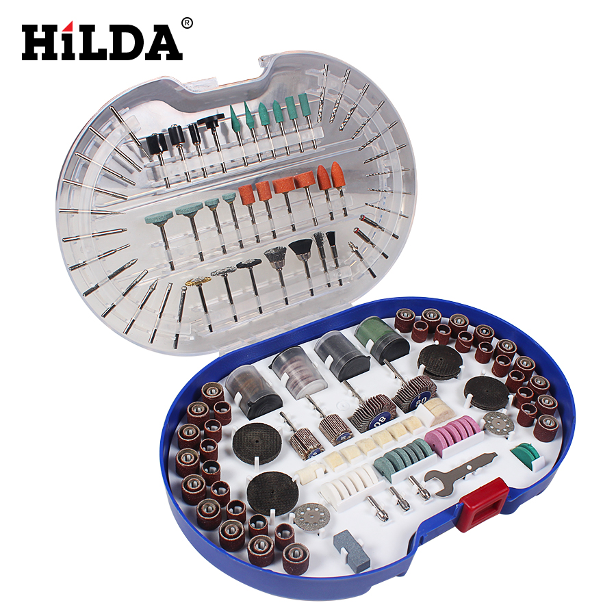 HILDA 276PCS Rotary Tool Bits Set For Dremel Rotary Tool Accessories for Grinding Polishing Cutting Abrasive Tools Kits 80pcs green set 22mm diameter abrasive buffing polishing wheels with plastic box for dremel rotary tools