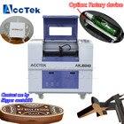 AKJ6040 co2 laser engraver/ co2 laser engraving machine 60w mini laser stamp engraving machine price