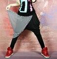 2016 Nueva moda Jazz harén mujeres pantalones de hip hop JAZZ pantalones sueltos Street style Mujer cantante ds baile de disfraces