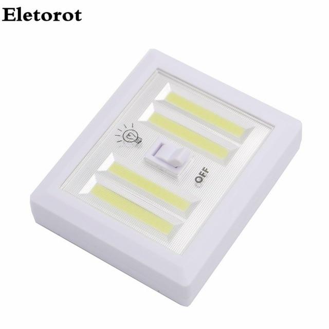 4 * COB LED Magnetischer Cordless Lichtschalter Wand Nachtlichter ...