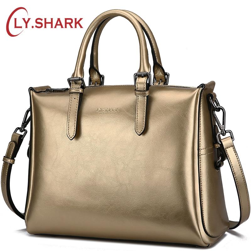 купить LY.SHARK luxury handbags women bags designer famous brand bag ladies genuine leather messenger shoulder bag women crossbody bags по цене 2660.86 рублей