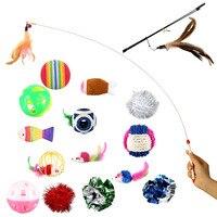 18 Pequena Variedade de Jogar Mini Mouse Dom Brinquedos Para Gatos Cães Gatinho Valor Pacotes de Brinquedos do animal de Estimação, Mouse, Bola, meias Nova