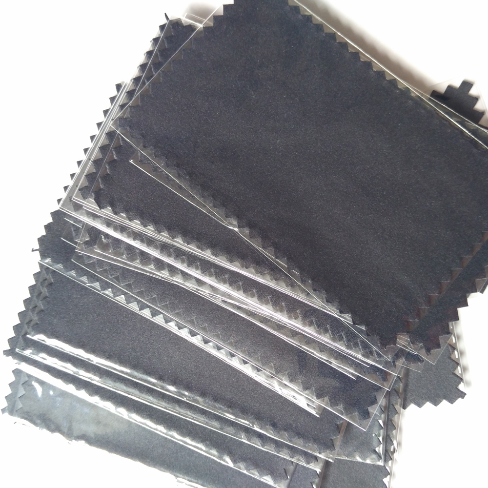 Black cool new 925 Silver Polishing Cloth 100pcs each plastic bags free for Pearl  Golden Jewelry Rings necessity Quality 11*7cm(China)