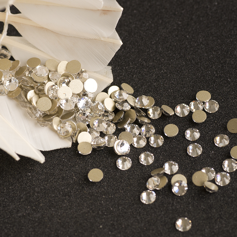 Yanruo Clear Crystals Non Hotfix Rhinestones Crystal Flatback Glass Strass DIY Clothes Shoes Bags Decoration Nail Art Designs in Rhinestones from Home Garden