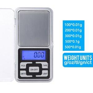 Image 3 - 100/200/300/ 500g x 0.01g/0.1g Mini Digital Pocket Bilancia Per Oro gioielli in Argento Sterling Bilancia s Balance Gram Elettronico Bilancia s
