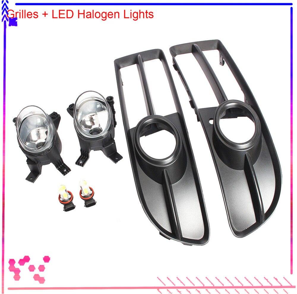Frente Esquerda para a Direita No Vidro Traseiro Inferior Fog Light LED Lâmpada Halógena A4 S-line B7 Grilles Tampa Para AUDI 2005 -2008 8E0941699C 8E0941700C