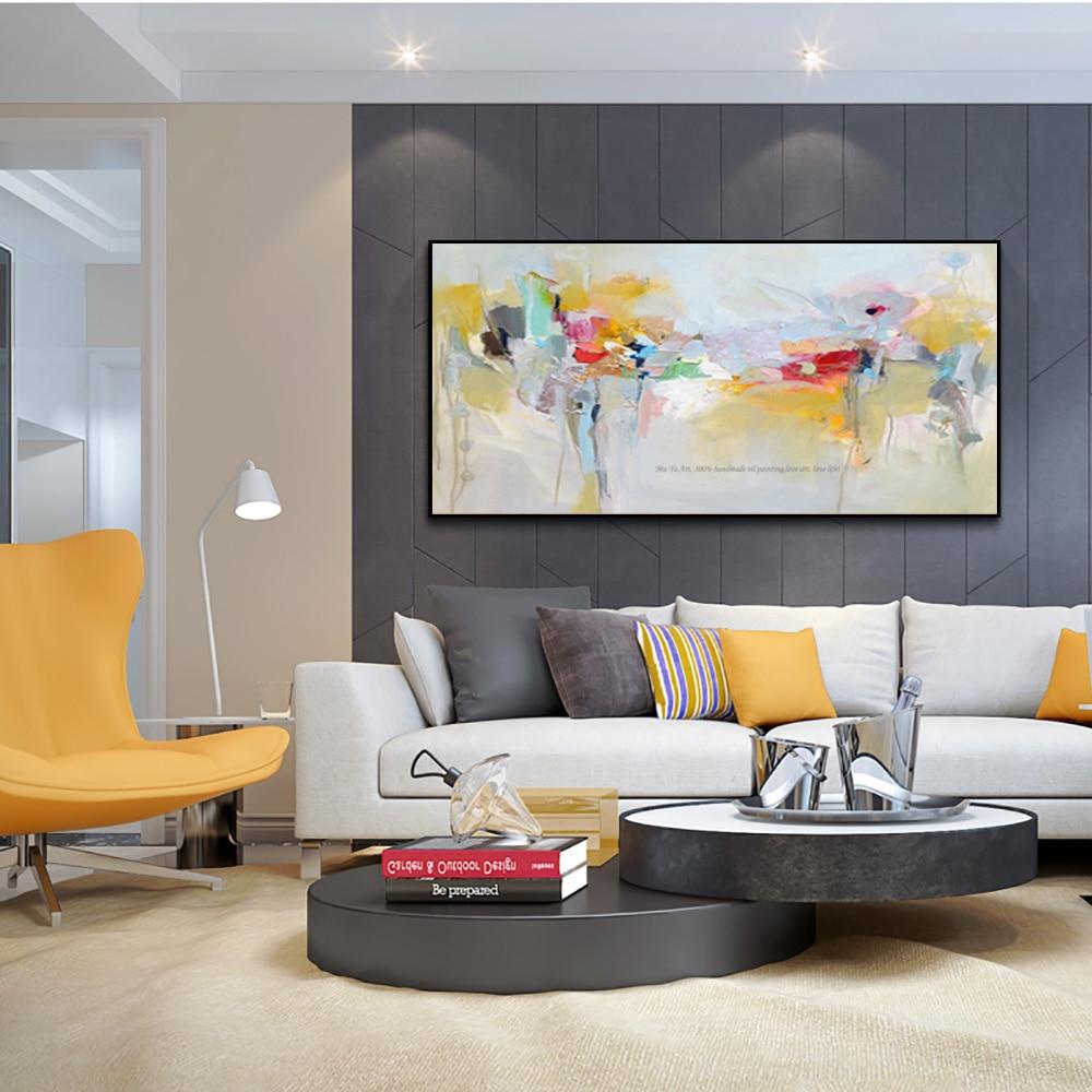 Große leinwand wand kunst acryl malerei moderne gemälde wand malerei ...