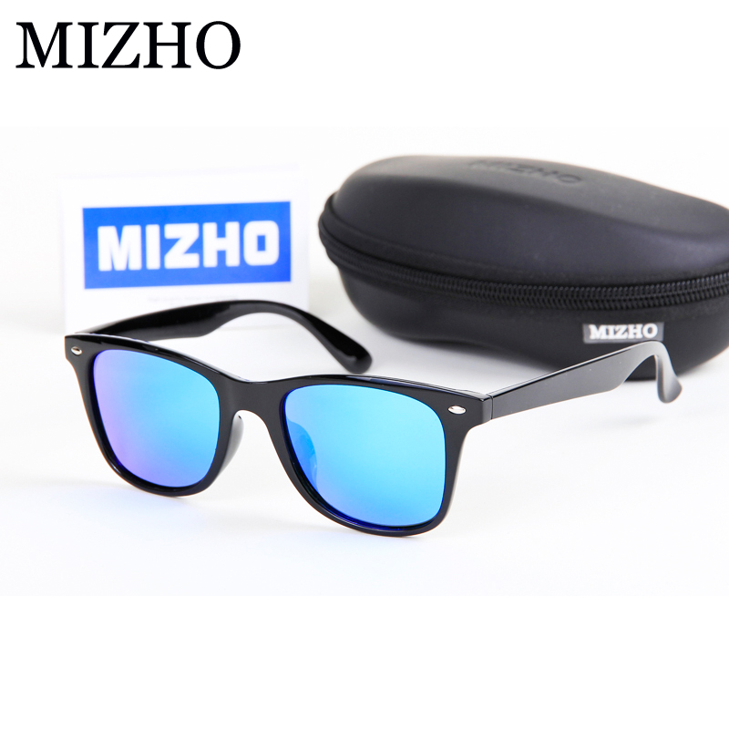 MIZHO Memory Polymer Material Plastic Square Mens Sunglasses Women Polarized Real Visual Color Shield Oculos Classic Eyewear
