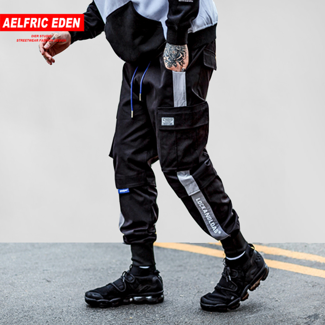 Aelfric Eden Ankle-length Casual Pants Male 2018 Letter Embroidery Fashion Joggers Men Hip Hop Slim Fit Harajuku Streetwear Ua03