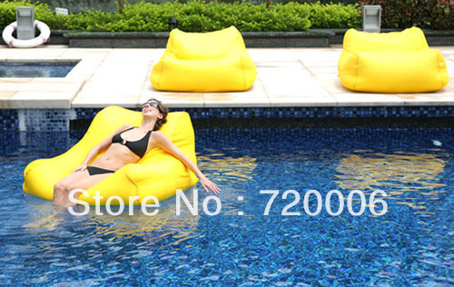 Free shipping swimming pool beanbag chair water floating bean bag for pool outdoor floating for Bulk water delivery for swimming pools