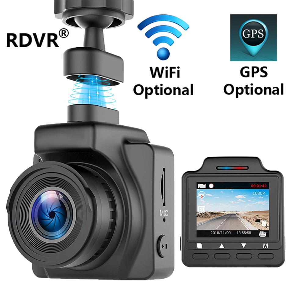 RDVR Mini Camera Registrator-Recorder Dash-Cam Video Wifi Gps Optional Night-Vision 1080P