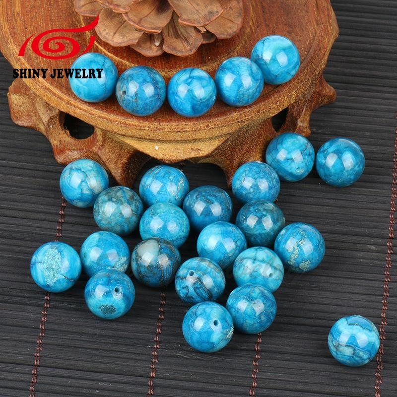 Natural Smooth Round Blue Crazy Lace Agates Beads For Jewelry Making Beads DIY Jewellery FreeShipping Wholesale Gem