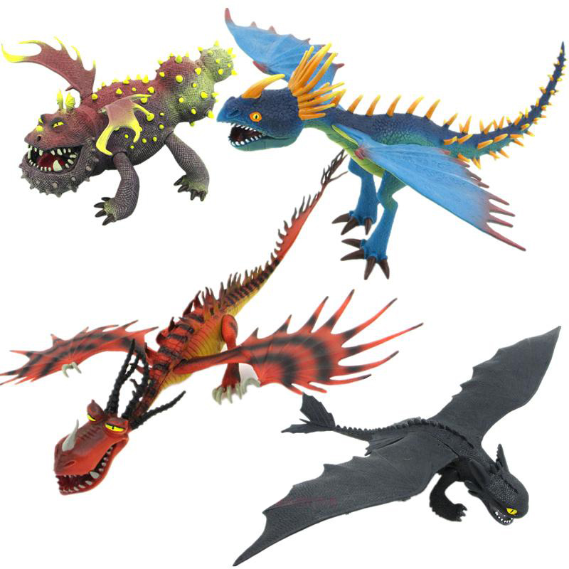 Como Treinar O Seu Dragão 2 25-37cm Desdentado Noite Action Figure Toy Collectible Hageffen Mortal Nadder Gronckle brinquedo Para O Presente