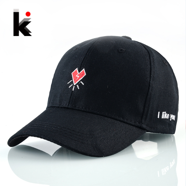 100% Cotton Dad Hat For Men Red Heart Embroidery Baseball Caps Women  Snapback Bones Adjustable Casual Couples Hat Hip Hop Gorras b7f43b620454