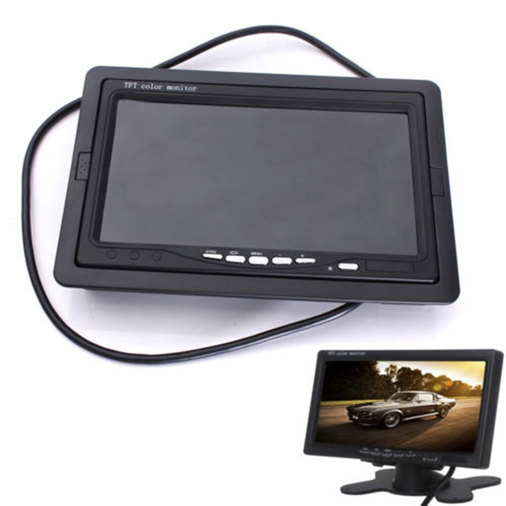 7 TFT LCD Color HD Screen Monitor for Car CCTV Reverse Rear View Backup Camera 4 3 tft lcd car rear view reverse color camera monitor reversing dvd vcr cctv