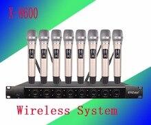 Беспроводной Системы x-8600 про микрофон 8 каналов УКВ профессиональный 8 ручной микрофон этап караоке Беспроводной микрофон