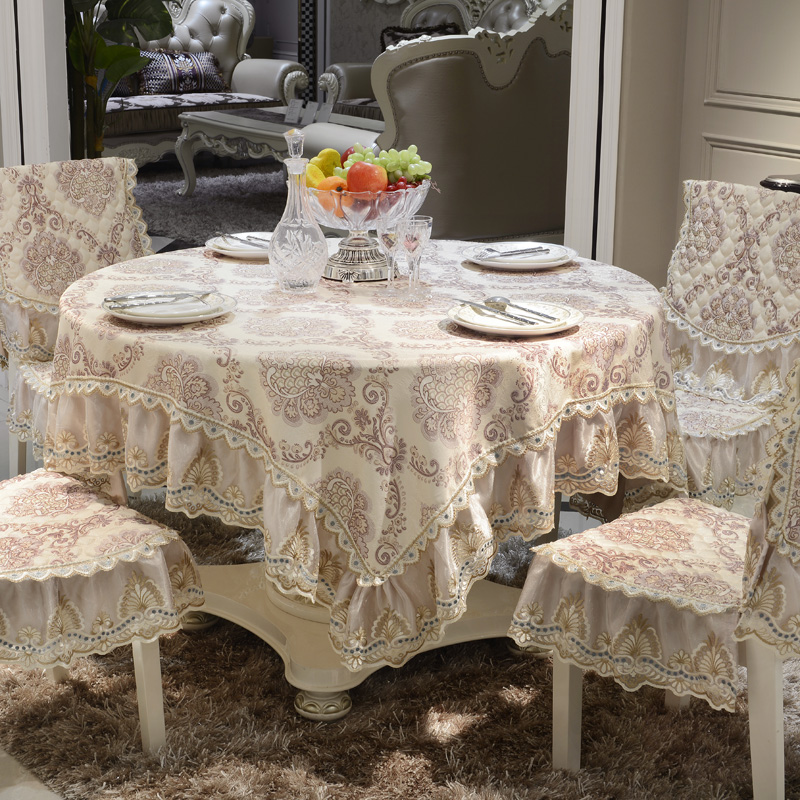 Europe Luxury lace Table Cloth 130*130/150*200/180*180cm Kitchen restaurant square tablecloths Thicker