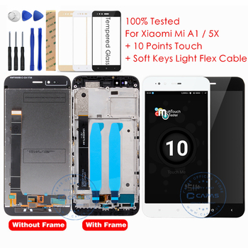 Xiaomi Mi A1 LCD Display + Frame 10 Touch Screen Xiaomi Mi 5X LCD Digitizer Assembly TouchScreen Panel Replacement Spare Parts