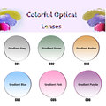 New Arrival Radiation Protection 1.56 Standard Index Dyeing Prescription Lens HMC EMI Anti UV Optical Tinted Lens For Sunglasses