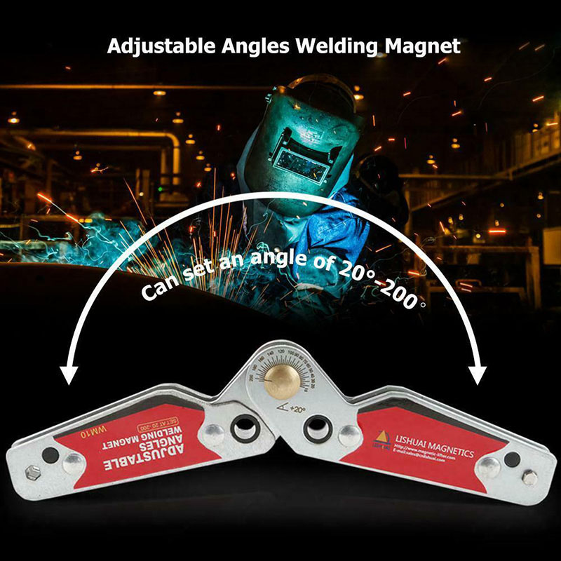 Magnetic Welding Holder Adjustable Angles 20/°-200/° Welding Magnets Angle Clamp Finder Positioner Locator Tools with Hex Wrench