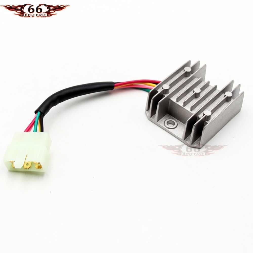 voltage regulator 5 wire for honda cg 125cc 150cc 200cc 250cc atv dirt bike  go kart