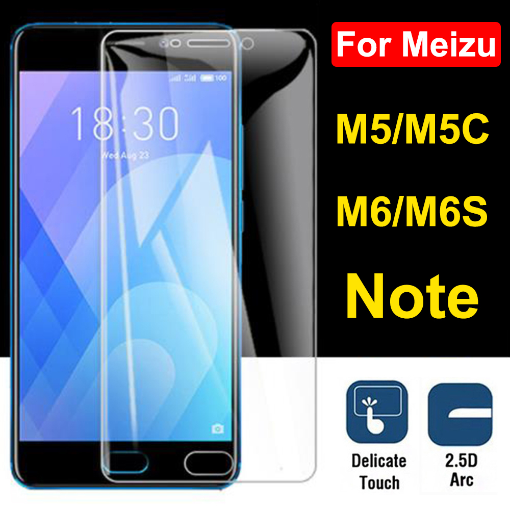 Protective glass on For Meizu m5 m6 note tempered glas film maisie meuzu m6s 5c meizy m 5note 6note screen protector mezu 5 6 image