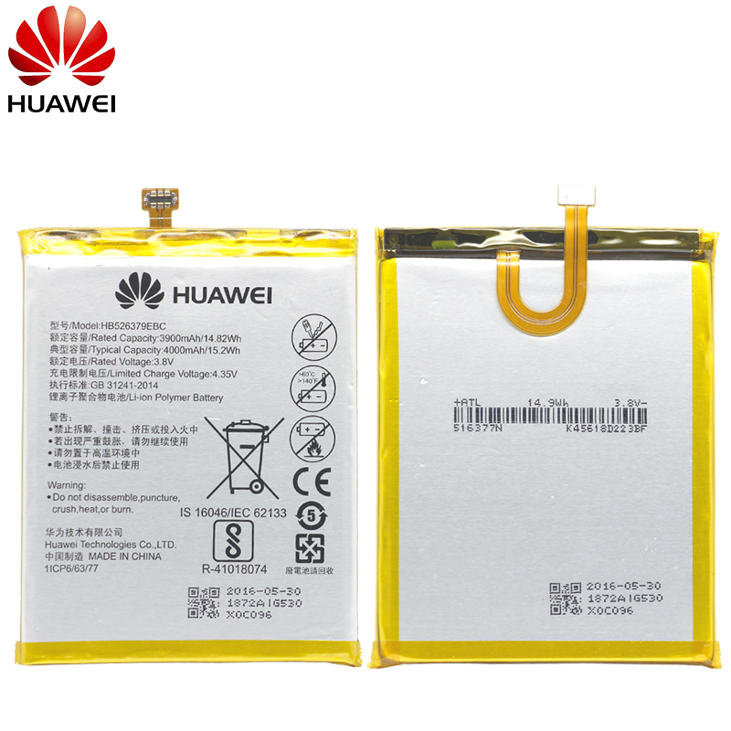 Image 2 - Hua Wei Original Phone Battery HB526379EBC For Huawei Y6 Pro / Enjoy 5 / Honor 4C Pro 4000mAh Replacement Batteries Free Tools-in Mobile Phone Batteries from Cellphones & Telecommunications