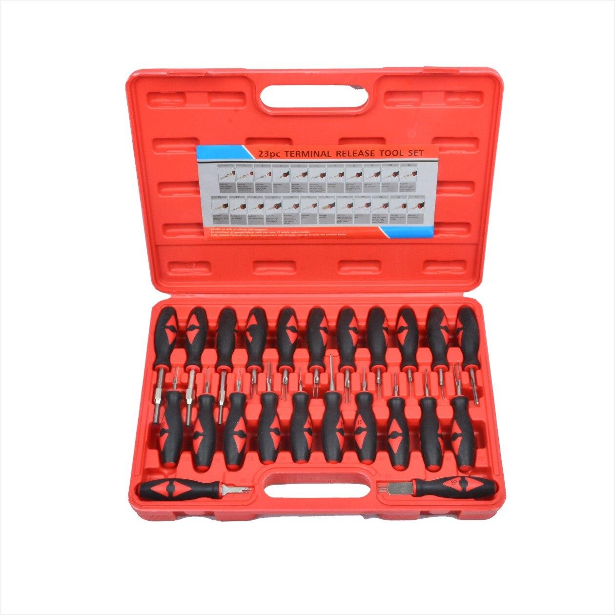 23 pièces voiture universel Terminal enlèvement outils Set automobile câblage connecteur sertissage Pin extracteur pour BMW Ford VW