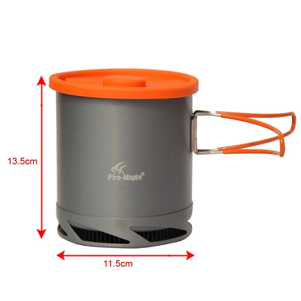 kotel s tepelným výměníkem požární javor fmc xk6 - Hot Sale 1L Portable Heat Exchanger Pot Fire Maple FMC-XK6 Ultralight 190g Outdoor Camping Kettle Picnic Cookware Free Shipping