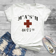 64109074 2019 New Summer Funny MASH 4077th tv Division Vintage Style Distressed  citcom Heather Military T-Shirt