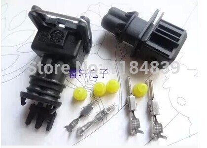Hot sell 50 set EV1 Fuel Injector Plug Waterproof Car 2 Pin way Electrical Wire Connector Plug automobile Connectors free ship