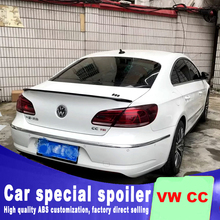 new design for Volkswagen VW CC 2009 to 2017 rear trunk wings spoiler by primer paint or black white color spoilers