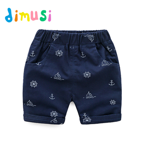 Детские хлопковые шорты Dimusi, летние шорты с принтом для мальчиков, Стильные шорты для детей, короткие шорты для детей, BC130