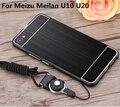 """New Arrive For Meizu U10 5.0""""/ U20 5.5 """"Case Metal Frame+PC Back Case Phone Protect Sets For Meizu U10 U20 Phone Case Capa Funda"""