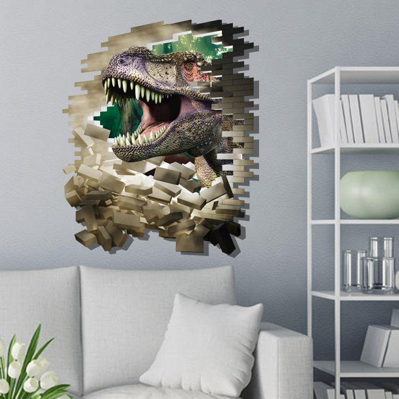 Aliexpresscom  Buy Removable D Dinosaurs Wall Stickers Jurassic - 3d dinosaur wall decals
