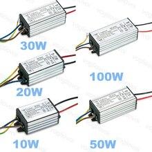 Vogliovoi transformador LED 10W 20W 30W 50W 100W de baja corriente AC110 220V de aluminio impermeable para reflector HighBay Blub DIY