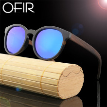 OFIR Natural Bamboo Fashion Sunglases Square Polarized Mens Womens Vintage Retro Handmade Wood Sunglasses Round Eyewear Shades
