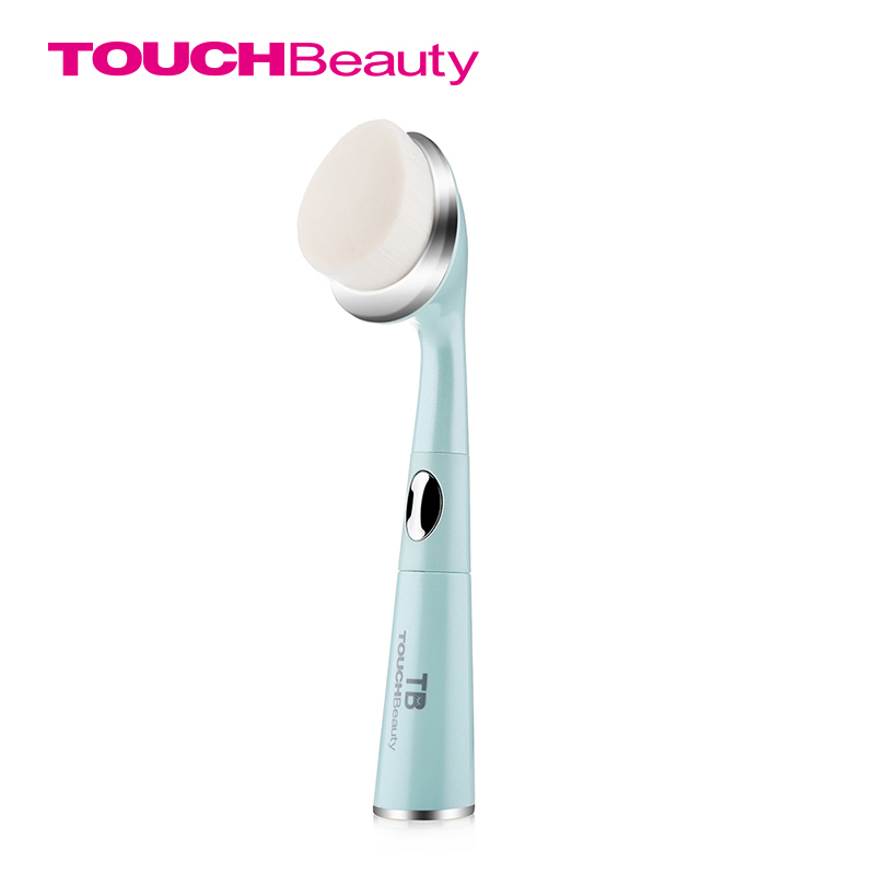 TOUCHBeauty 2 IN 1 Sonic Facial Cleanser with Anti-Ageing Wrinkle Eye Massager,  removes dark circles and puffiness TB-1581 touchbeauty sonic vibration eye massager 40 heated wand relieves dark circles and puffiness eye