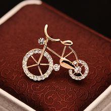 1 шт элегантность золотые стразы в форме велосипеда Для мужчин