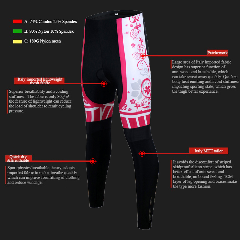 Siilenyond 2019 Women Pro Winter Thermal Cycling Pants Shockproof Cycling Trousers With 3D Gel Padded MTB Bike Cycling Tights 5