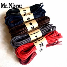 1 Pair Round Waxed Shoelaces Leather