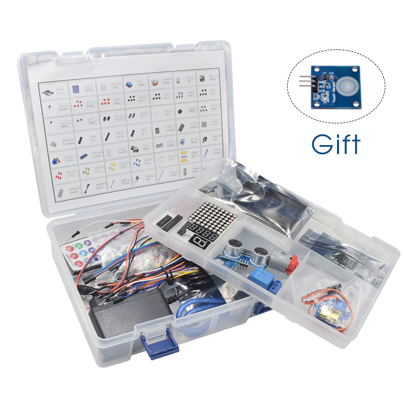 UNO Project The Most Complete Starter Kit For Arduino R3 With Power Supply, Stepper Motor, Relay Module And Tutorial